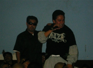 Rapper Plata Ramirez performing in Ticoman, October 2009
