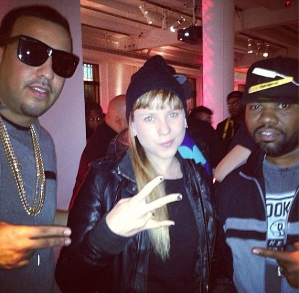 Niña Dioz with French Montana and Raekwon at in New York City, 2013 Photo: Niña Dioz on IG