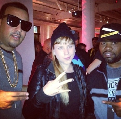 Niña Dioz with French Montana and Raekwon at in New York City, 2013 Photo: Niña Dioz on IG